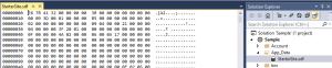 VS2013 native 'support' for SDF files (none)