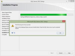 sql 2012 install error