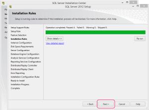 SQL 2012 or SQL 2014 installation step 10