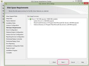 SQL 2012 or SQL 2014 installation step 12