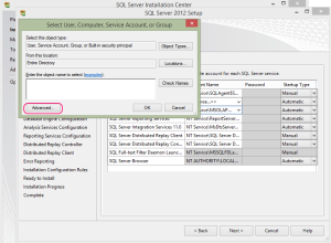 SQL 2012 or SQL 2014 installation step 13.3