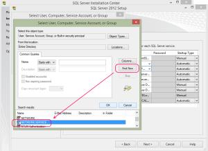 SQL 2012 or SQL 2014 installation step 13.4