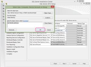 SQL 2012 or SQL 2014 installation step 13.5