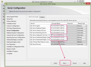 SQL 2012 or SQL 2014 installation step 13.6