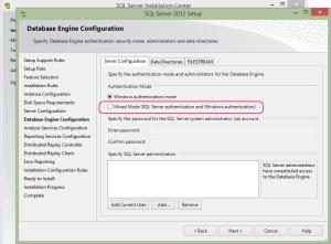 SQL 2012 or SQL 2014 installation step 14.1