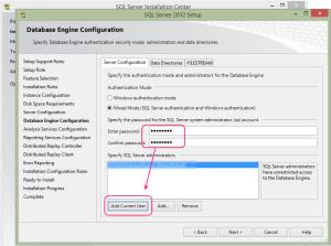 SQL 2012 or SQL 2014 installation step 14.2