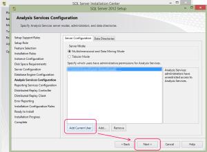 SQL 2012 or SQL 2014 installation step 15