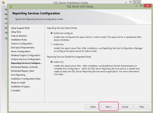 SQL 2012 or SQL 2014 installation step 16