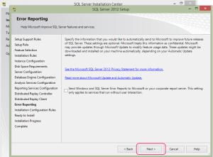 SQL 2012 or SQL 2014 installation step 19