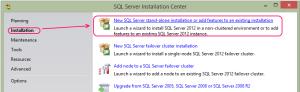 SQL 2012 or SQL 2014 installation step 2