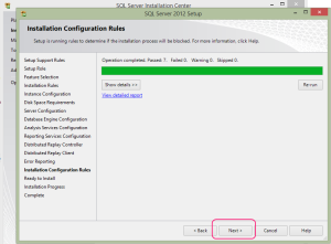SQL 2012 or SQL 2014 installation step 20