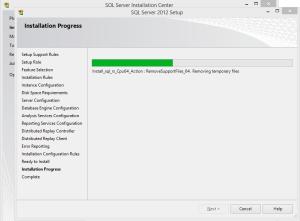 SQL 2012 or SQL 2014 installation step 22