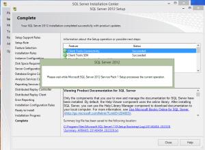 SQL 2012 or SQL 2014 installation step 24