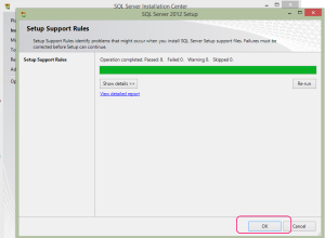 SQL 2012 or SQL 2014 installation step 3