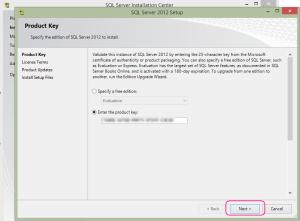 SQL 2012 or SQL 2014 installation step 4