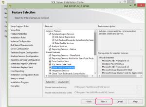 SQL 2012 or SQL 2014 installation step 9.1