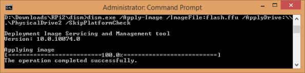 windows 8.1 running windows 10 dism to install Windows 10 IOT on raspberry pi 2