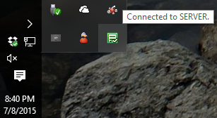 connected to server
