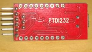 FTDI232 programmer, circuit board side